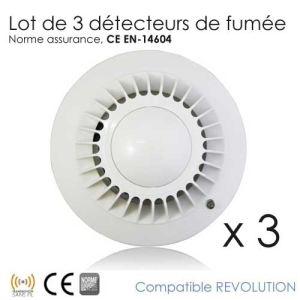 Securitegooddeal Révolution - 3 détecteur de fumée (certifiés CE EN 14604)