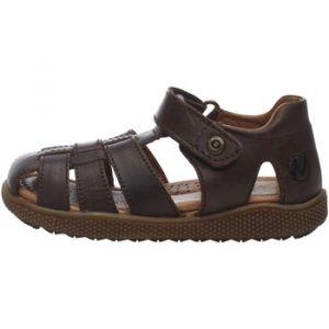 Naturino Sandales enfant GENE-Chaussure semi-ouverte en cuir Marron - Taille 23,25,26,27,28,29,30,31,32,33,34