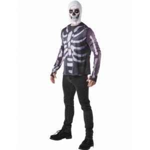 Rubie's Déguisement - Fortnite - T-shirt et cagoule Skulltrooper - Taille XXL (11-12 ans )