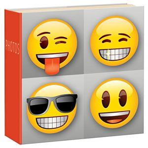 Innova Q4108012 Album Photo avec 200 Pochettes Carton/Papier/Plastique Rouge/Jaune/Marron/Blanc/Orange 21 x 21 x 5 cm