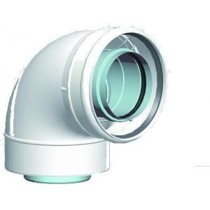 Ubbink 114562 - Coude 45° intérieur non isolé Rolux Fioul Inox-galva diamètre 80-125 Fioul Blanc