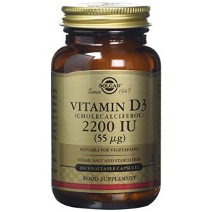 Solgar Vitamin D3 (Cholecalciferol) 2200 IU - Vegetable Capsules 100