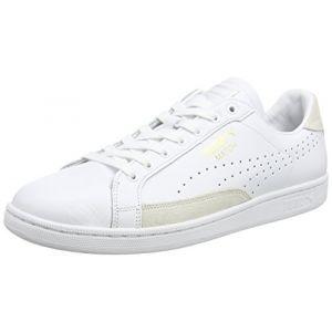 Puma Match 74 - Chaussures D'entrainement - Mixte Adulte - Blanc (White/White/Gold 10) - 46 EU (11 UK)
