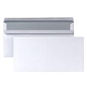 5* office 500 enveloppes 11 x 22 cm avec fenêtre