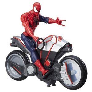 Hasbro Figurine Spiderman avec arachno-moto 30 cm