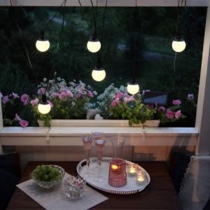 Guirlande lumineuse LED solaire Combo à 6 lampes