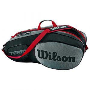 Wilson Sac de Tennis Unisexe Pour les joueurs experts Team III 6 PK Taille Unique Noir/Gris WRZ853806
