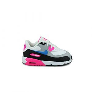 Nike Air Max 90 Leather Blanc Rose Bleu Bébé 23 1/2 Baskets