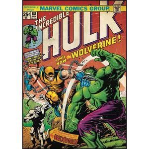 Image de ROOMMATES Stickers géant repositionnables Marvel Wolverine Hulk Comic Book (61 x 87 cm)