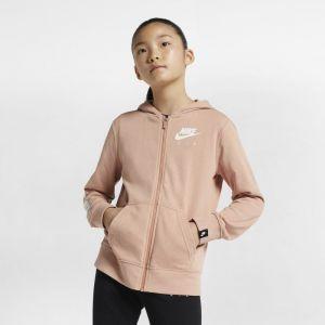 Nike Sweatà capuche entièrement zippé Air pour Fille plus âgée - Rose - Taille L - Female