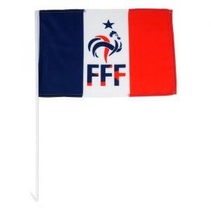 FFF Drapeau avec Tige Coq