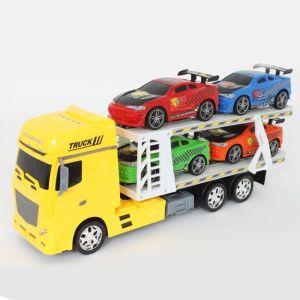 Mgm Camion de transport + 4 voitures de sport