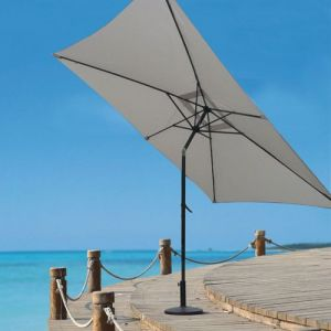 Homemaison Parasol Centré et Inclinable 2 x 3 m Ecru Diamètre : 2 m