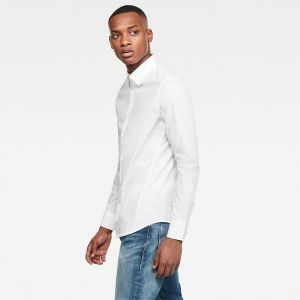 G-Star Raw Chemise Raw DRESSED SUPER SLIM SHIRT LS - Couleur XXL,S,M,L,XL - Taille Blanc
