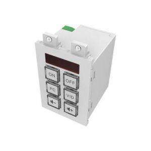 Vision Techconnect TC3-CTL - Télécommande pour module mural - 6 boutons - câble/infrarouge