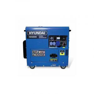 Hyundai Groupe électrogène diesel 6000 W 6500 W - Monophasé HDG6500