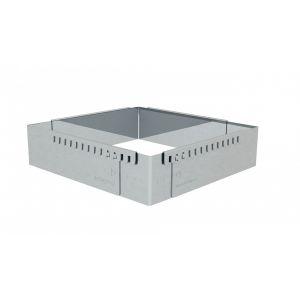 De Buyer Cadre à entremets inox extensible carré gradué de 16 x 16 cm à 30...
