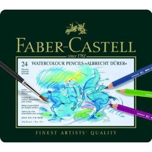 Faber-Castell Etui en métal de 24 crayons aquarellables Albrecht Durer