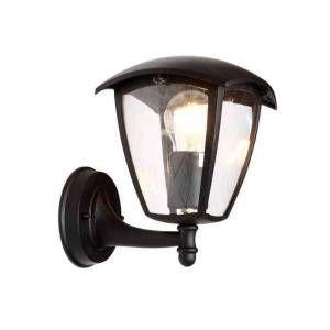 Silamp Lanterne Murale Extérieure Noire pour Ampoule E27
