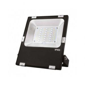 Vision-El Projecteur extérieur LED - 20W - RGB+Blanc - Noir