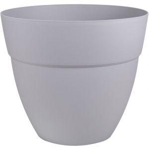 Eda Plastiques Pot Cancùn - diamètre 50 cm - volume 56,8 litres - gris béton