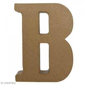 decopatch AC395O - Lettre B fantaisie majuscule, en papier mâché