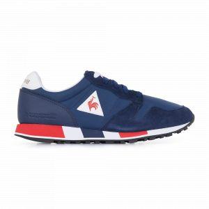 Le Coq Sportif Omega, Baskets Mixte Adulte, Bleu Dress Blue/Pure Red, 43 EU
