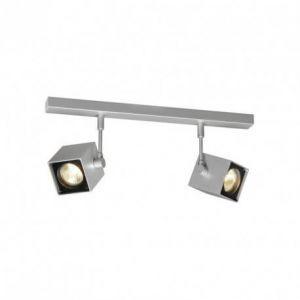 SLV Spot LED ALTRA DICE Orientable et Inclinable | applique et Plafonnier Variable pour Eclairage Intérieur, Spot LED | Projecteur de Plafond, Lampes de Plafond, Lampe Murale, 2 Lampes | GU10, E-A++