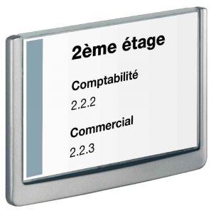 Durable Plaque de porte Click Sign format A5 paysage coloris graphite
