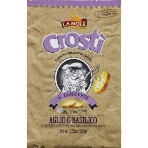 La mole Biscottes Crosti ail et basilic - Le sachet de 100 g