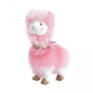 Doudou et Compagnie Lama rose petit modèle 20 cm