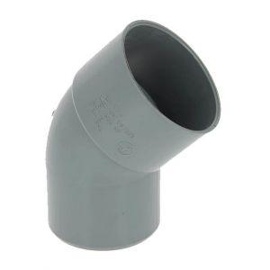 Adequa Coude PVC mâle-femelle 45° O80