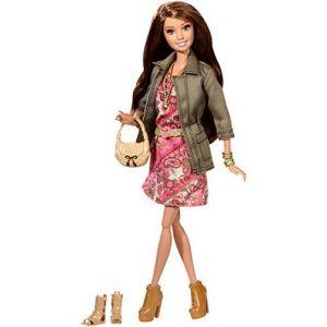Mattel Barbie amie mode luxe - Teresa robe à fleurs