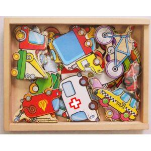 Sapin Malin Véhicules en bois magnétiques 20 pièces
