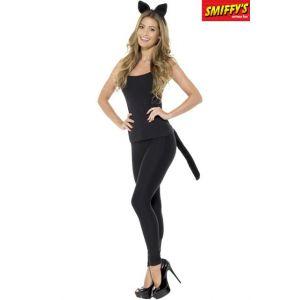 Smiffy's KIT CHAT NOIR ADULTE-TAILLE UNIQUE
