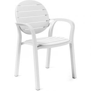 Nardi Fauteuil Jardin & Terrasse Design Palma - Blanc - Extérieur