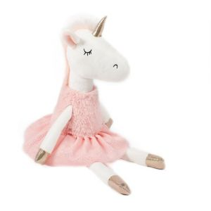 Soft Friends Peluche Licorne robe rose 42 cm