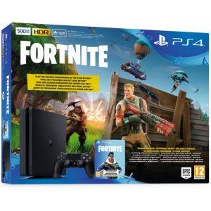 Sony PS4 500 Go noire + Fortnite
