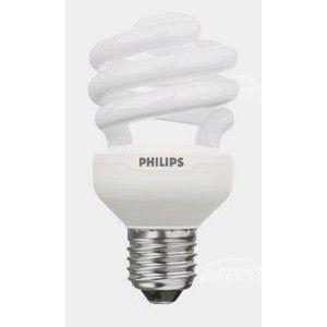 Philips Ampoule fluocompacte tornado - e27 - 12w - 2700k - 230v - t2 - spirale