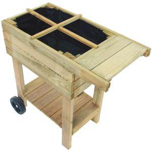 Cemonjardin Potager sur pied en bois spécial balcon