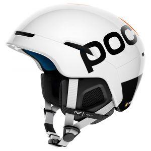 Poc Casques Obex Bc Spin - Hydrogen White / Fluorescent Orange Avip - Taille XS-S