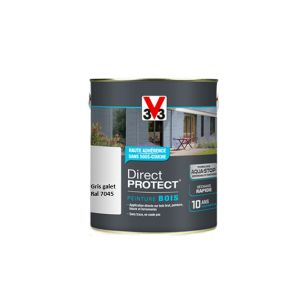 V33 Direct Protect satin gris galet 500 ml - Peinture extérieure bois