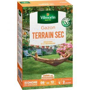 Vilmorin Semences de gazon rustique pour terrain sec - 200 g - 200 g - Taux de germination supérieur de 10% - 100% semences pures sans engrais