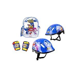 Simba Toys Sac à dos avec casque et protections Super Wings