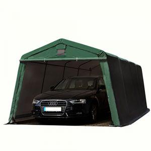 Intent24 TOOLPORT Abri/Tente garage PREMIUM 3,3 x 6,2 m pour voiture et bateau - toile PVC 500 g/m² imperméable vert fonce.FR
