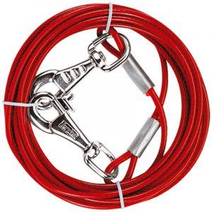 Ferplast Câble corde acier chien chiens résistant revêtu plastique PA deux tailles