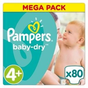 Pampers Baby Dry taille 4+ 9-18 kg  - 80 couches