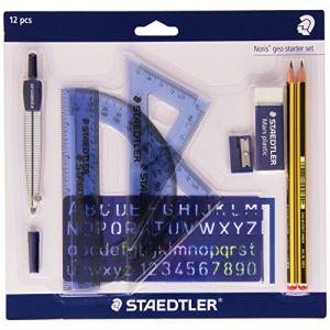 Staedtler 569120P1Noris Geo Starter Set Kit de démarrage de géométrie avec un total de 10articles