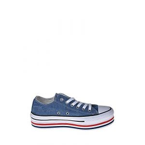 Converse Chaussures casual Chuck Taylor All Star basses en toile EVA Layers Plateforme Bleu - Taille 39