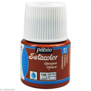 Pebeo Peinture tissu Setacolor - Opaque - Cannelle - 45 ml
